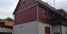 Fassadenverkleidung mit Eternit 1