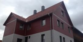 Fassadenverkleidung mit Eternit